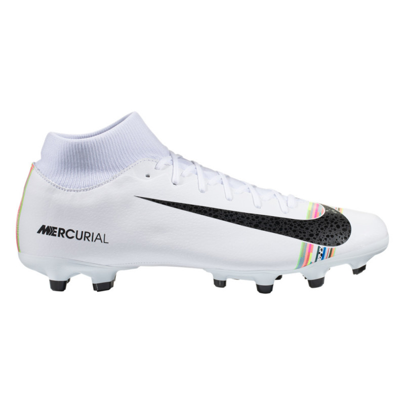 Nike Men's Mercurial Superfly 6 Academy FG/MG (White/Pure Platinum/Black)