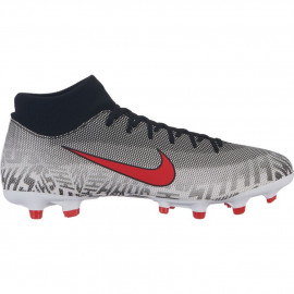 Nike Youth Superfly 6 Academy NJR FG MG Soccer Cleats-White Challenge Red 2202173e96