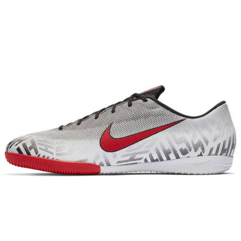 Nike Men's Neymar Vapor 12 Academy Indoor Court Soccer Shoe-White/Black/Challenge