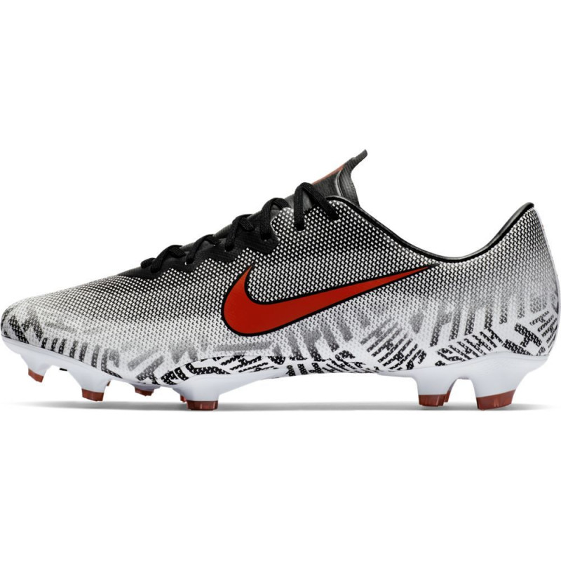 Nike Men's Mercurial Vapor 12 Pro Neymar FG-White/Challenge Red/Black