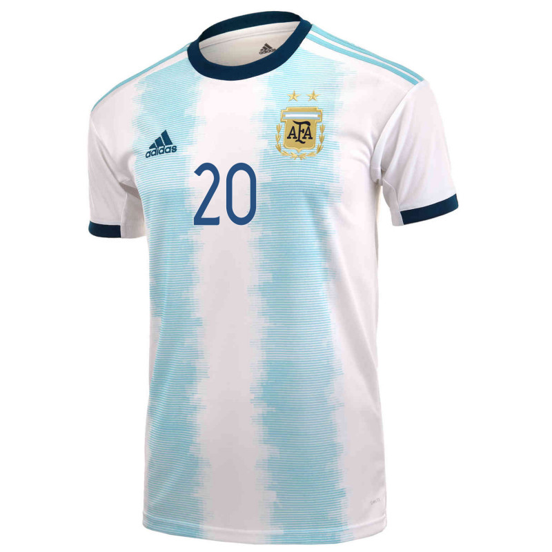 new product 86577 0ca10 adidas LO Celso #20 Men's Argentina Home Soccer Jersey 2019 ...
