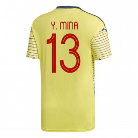 Y. MINA #13 Colombia YOUTH Home Soccer Jersey COPA America 2019/20