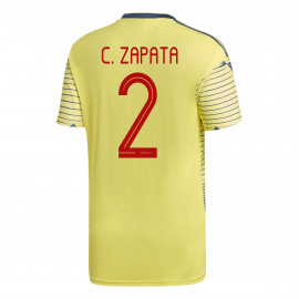 C. Zapata #2 Colombia YOUTH Home Soccer Jersey COPA America 2019/20