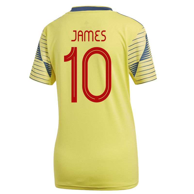 brand new 62ab9 57b7c James #10 Colombia Home Women's Soccer Jersey 2019/20