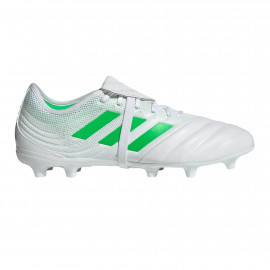 adidas Copa Gloro 19.2 Firm Ground Cleats- WHITE/SOLAR LIME