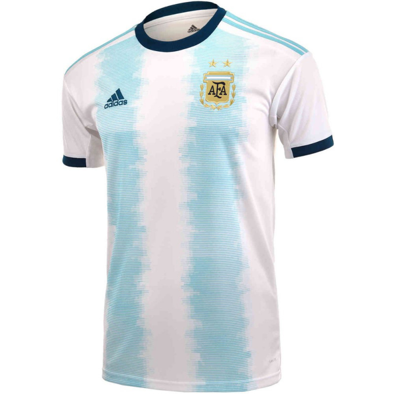 adidas Youth Argentina Home Jersery 2019-WHITE/LIGHT AQUA