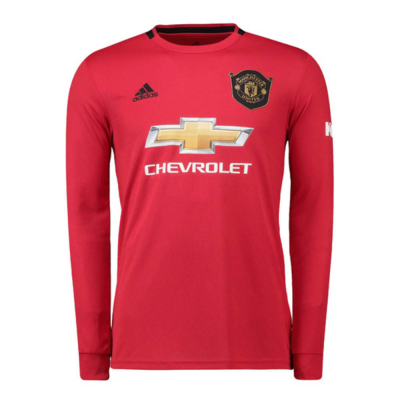 adidas Manchester United Home Long Sleeve Jersey 19-20 (Black/Red)