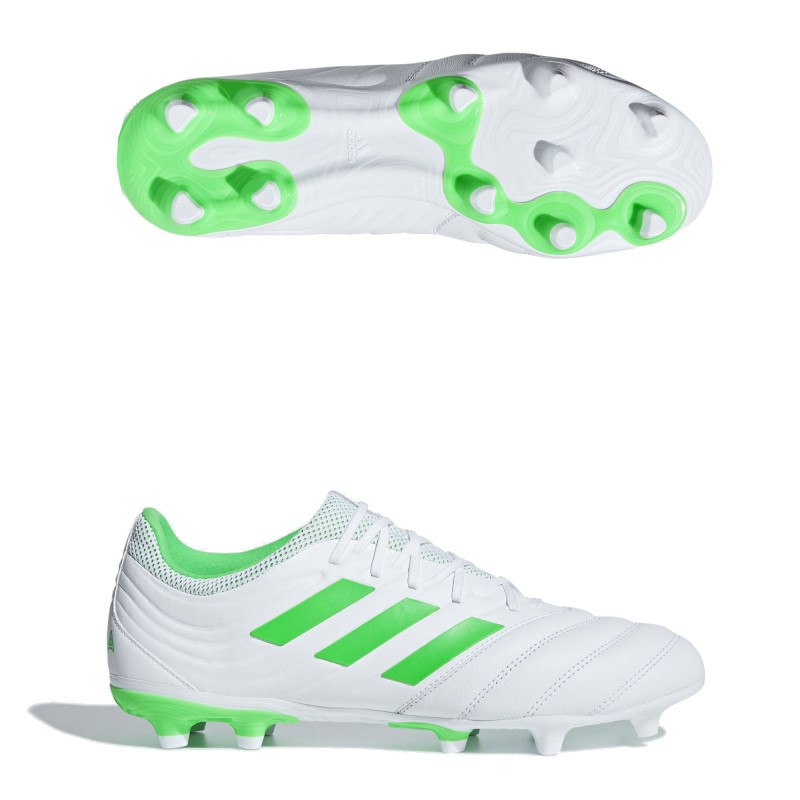 ADIDAS COPA 19.3 FIRM GROUND CLEATS- CLOUD WHITE / SOLAR LIME / CLOUD WHITE