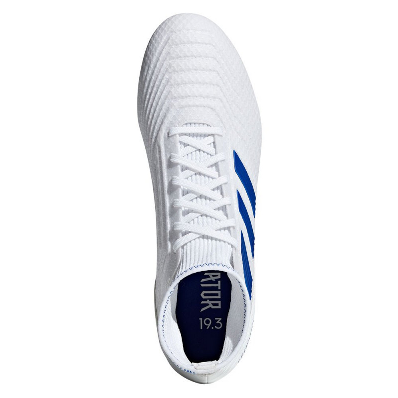 ADIDAS PREDATOR 19.3 FIRM GROUND CLEATS- CLOUD WHITE / BOLD BLUE / BOLD BLUE