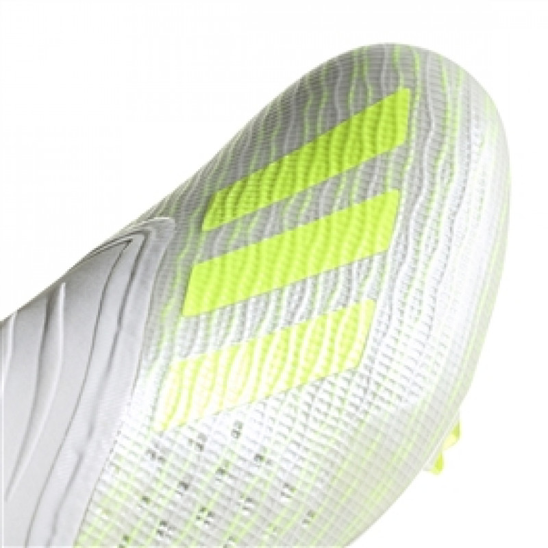 ADIDAS X 18+ FIRM GROUND CLEATS- CLOUD WHITE / SOLAR YELLOW / OFF WHITE