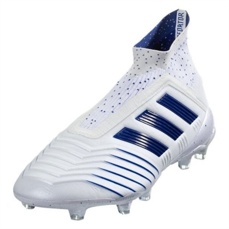 7d466dc0e55 ADIDAS PREDATOR 19+ FIRM GROUND CLEATS- CLOUD WHITE   BOLD BLUE   BOLD BLUE