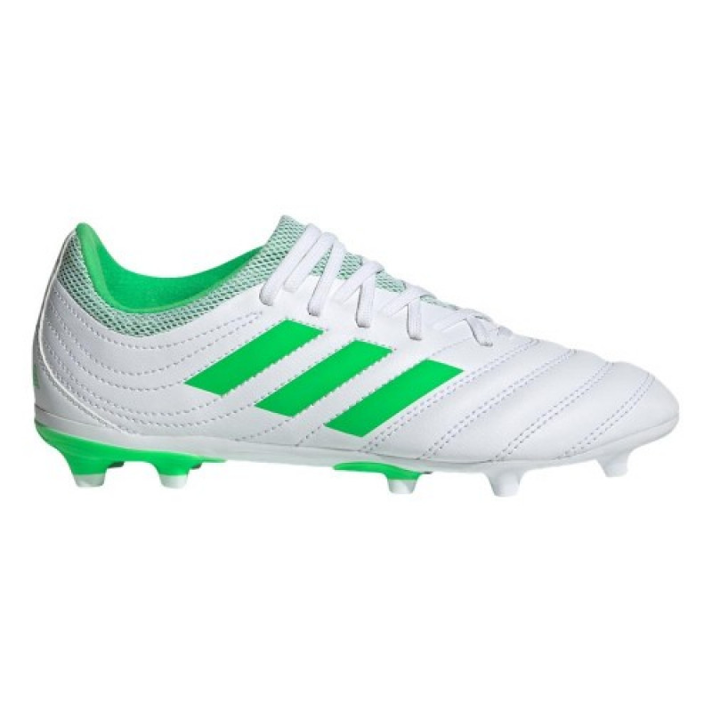 ADIDAS YOUTH COPA 19.3 FIRM GROUND CLEATS- CLOUD WHITE / SOLAR LIME / CLOUD WHITE