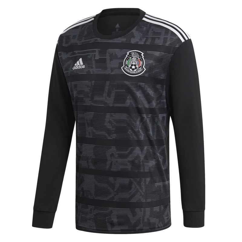 adidas Men's Mexico Home Long Sleeve Jersey 2019 -Black