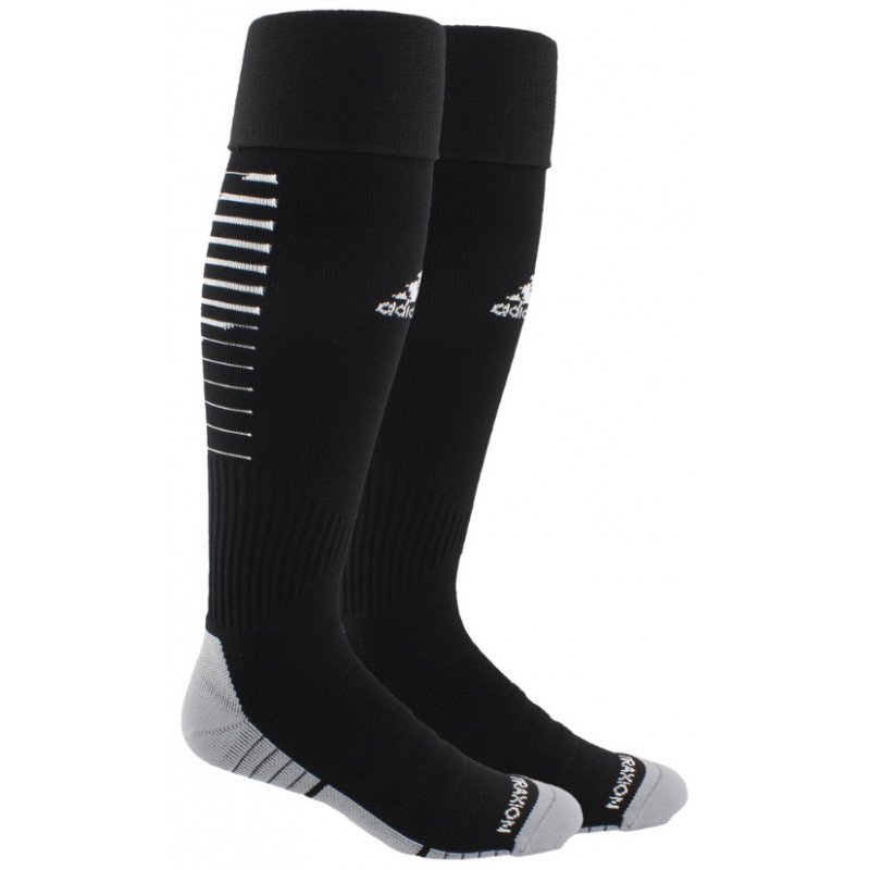 adidas Team Speed II OTC Soccer Sock-BLACK/WHITE