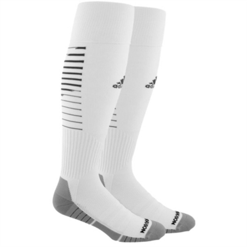 adidas Team Speed II OTC Soccer Sock-WHITE/BLACK
