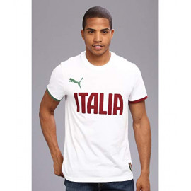 PUMA ITALY GRAPHIC  TEE WORLD CUP -WHITE -BURGANDY