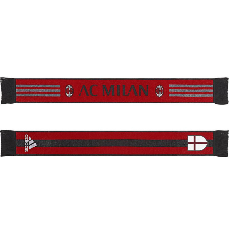 adidas AC MILAN SCARF-BLACK-RED GRAY