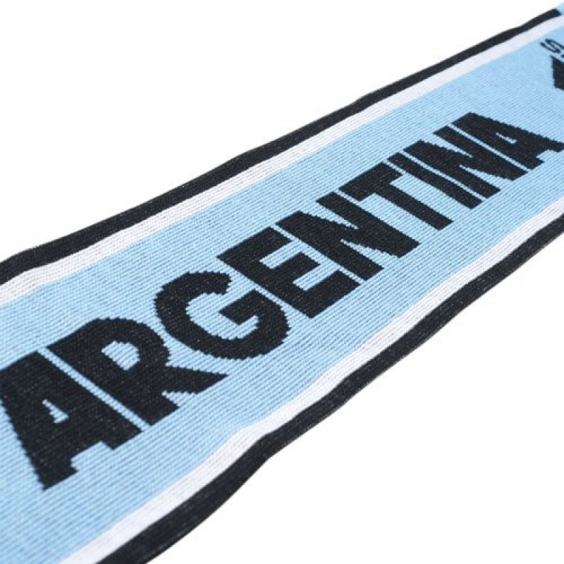 adidas ARGENTINA SUPPORTERS SCARF-CLEAR BLUE-BLACK-WHITE