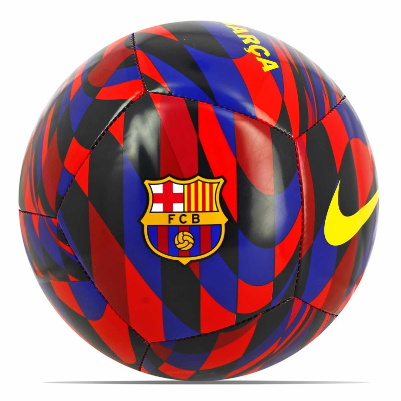 NIKE BARCELONA TRAINING SOCCER BALL-RED-BLACK-BLUE