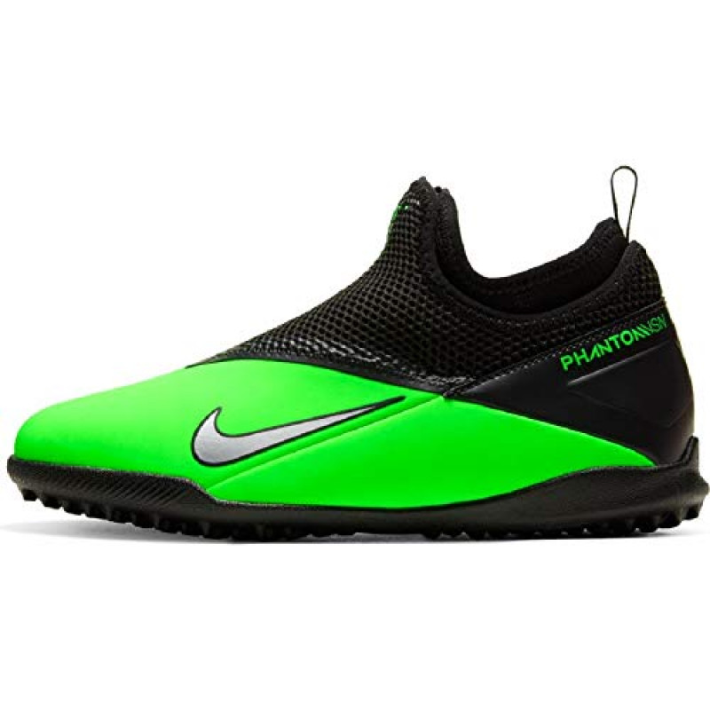 NIKE  JUNIOR PHANTOM  VISION 2 ACADEMY  DF TF GREEN -BLACK