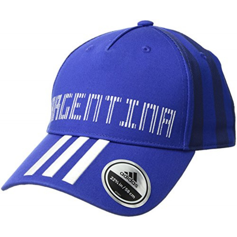 adidas WORLD CUP ARGENTINA COUNTRY FASHION CAP -ONE SIZE -BOLD BLUE -WHITE