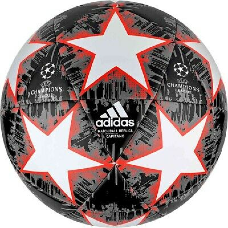 adidas FINALE CAPITANO SOCCER BALL-BLACK-WHITE-RED