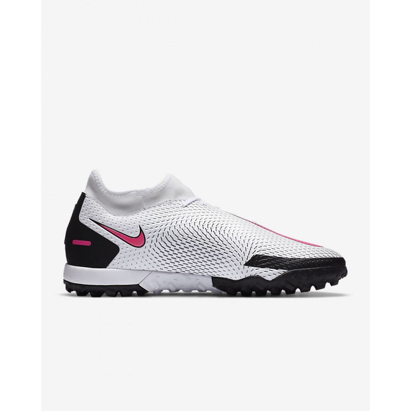 NIKE PHANTOM GT ACADEMY DYNAMIC FIT TF  ARTIFICIAL TURF WHITE/BLACK/PINK BLAST