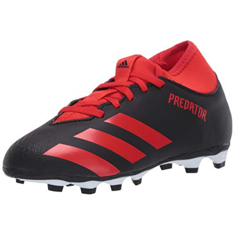 adidas Predator 20.4 S FxG J YOUTH  Soccer Cleats-BLACK-RED
