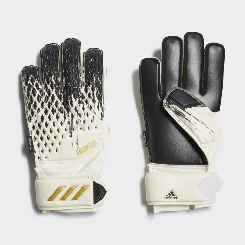 adidas YOUTH  PREDATOR 20 MATCH  GLOVES WHITE/BLACK/GOLD METALIC