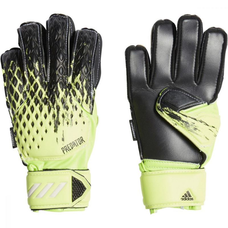 ADIDAS YOUTH PREDATOR 20 FINGERSAVE GLOVES (SIGNAL GREEN/BLACK/WHITE)