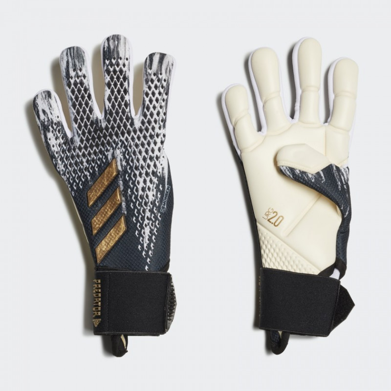 adidas PREDATOR YOUTH 20 PRO  GLOVES WHITE-BLACK-GOLD METALIC