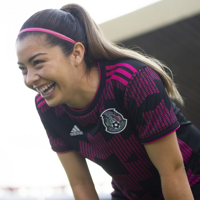 adidas MEXICO WOMEN'S  HOME JERSEY - 2021-2022- Black / Real Magenta