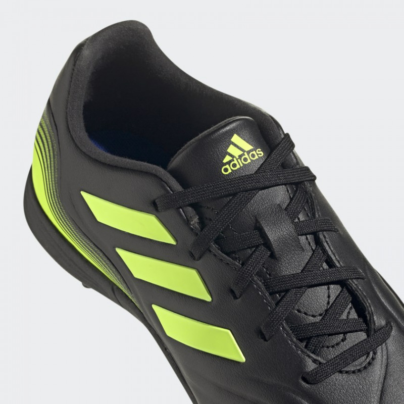 adidas COPA SENSE.3 JUNIOR  TURF SHOES Core Black / Cloud White / Solar Yellow