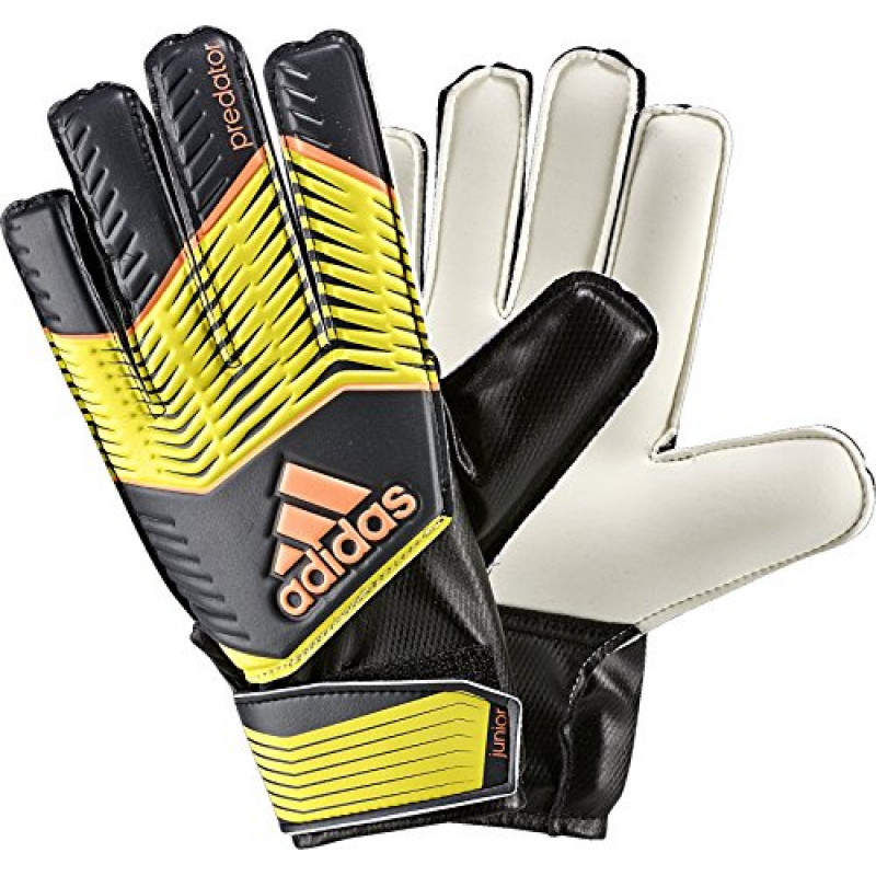 adidas PERFORMANCE PREDATOR GOALIE GLOVE JUNIOR - Bright Yellow/Dark Grey/Flash Orange