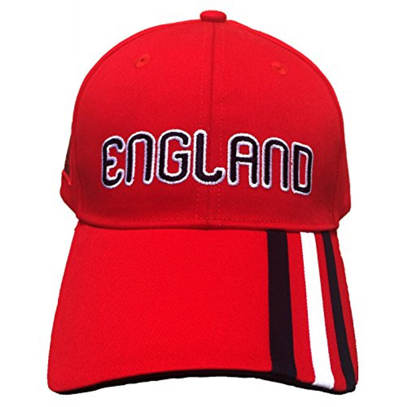 adidas ENGLAND 3-STRIPE -ONE SIZE CAP (RED)