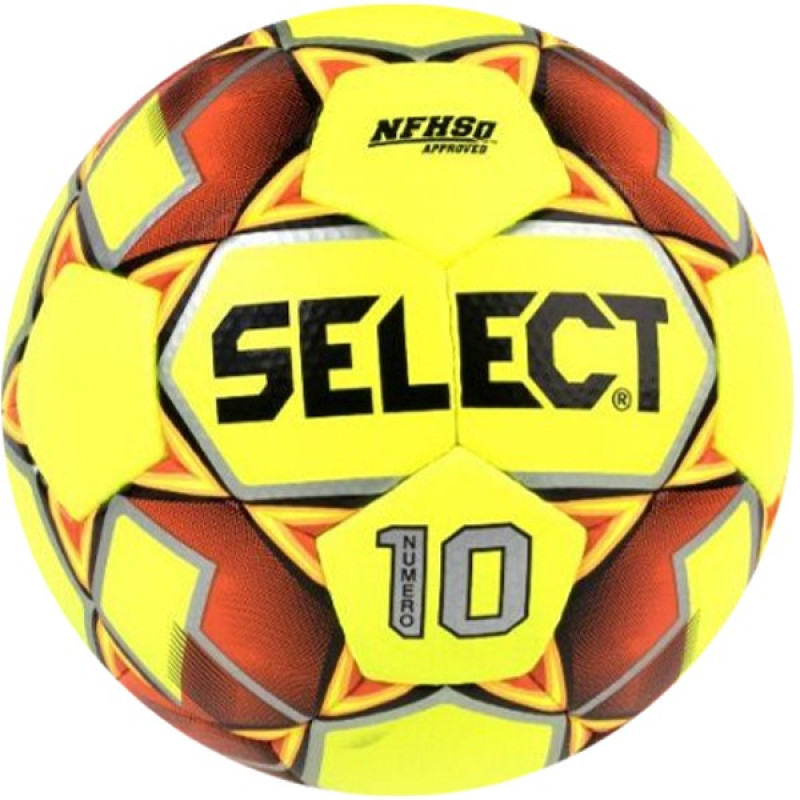 SELECT NUMERO 10 SOCCER BALL NFHS/IMS YELLOW-ORANGE