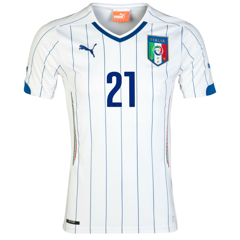 ITALY AWAY JERSEY 2014 (PIRLO 21) f96cde495