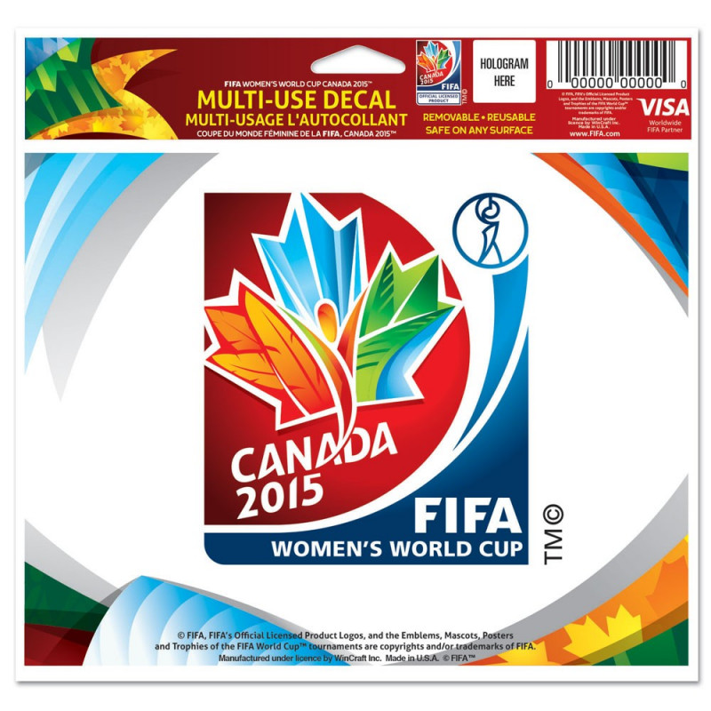 FIFA WOMEN'S WORLD CUP CANADA 2015 MULTI USE DECAL