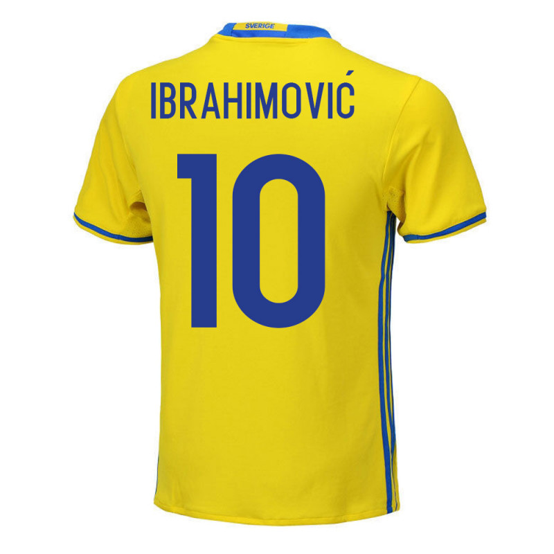 outlet store 0640f 0d632 Zlatan Ibrahimovic #10 Sweden Youth Home Jersey EURO 2016