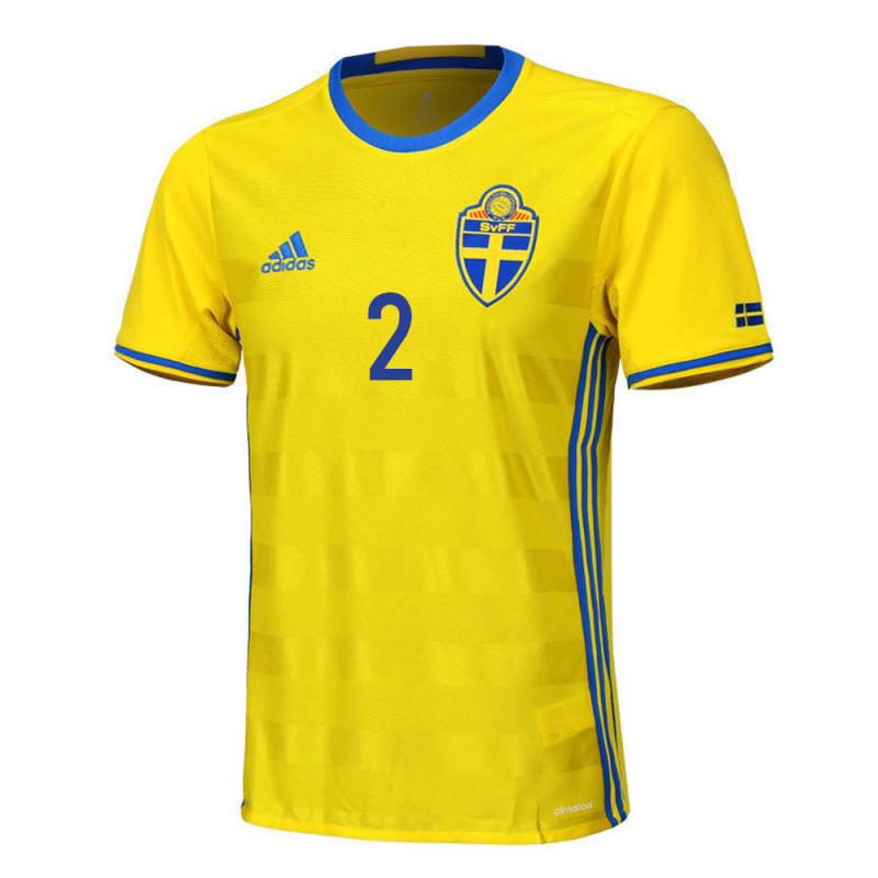 Lustig #2 Sweden Youth Home Jersey EURO 2016
