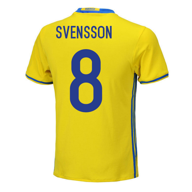 Anders Svensson #8 Sweden Youth Home Jersey EURO 2016