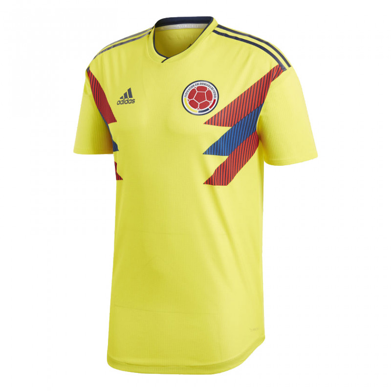 Colombia Men's Home Authentic Jersey World Cup Russia 2018