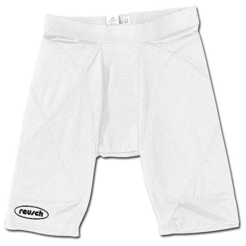PADDED COMPRESSION SHORT (YOUTH) WHITE