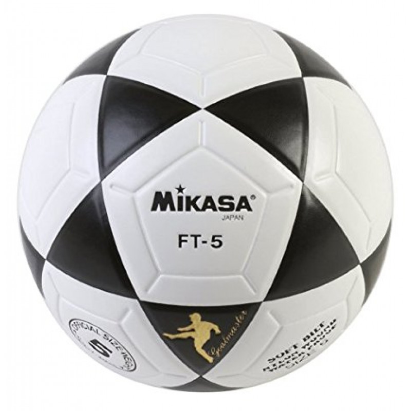 Mikasa FT5 Goal Master Soccer Ball (Size 5) WHITE/BLACK