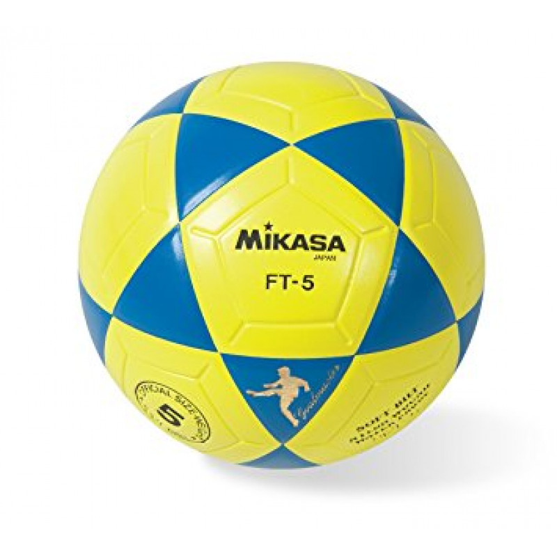 Mikasa FT5 Goal Master Soccer Ball (Size 5) YELLOW/BLUE