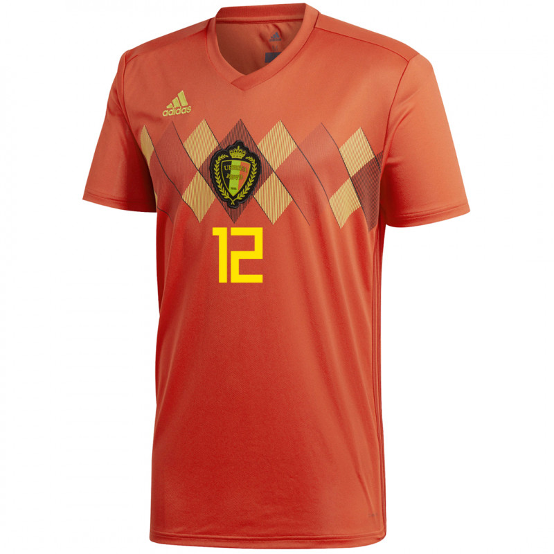 BELGIUM MEN'S HOME JERSEY WORLD CUP RUSSIA 2018 MIGNOLET #12