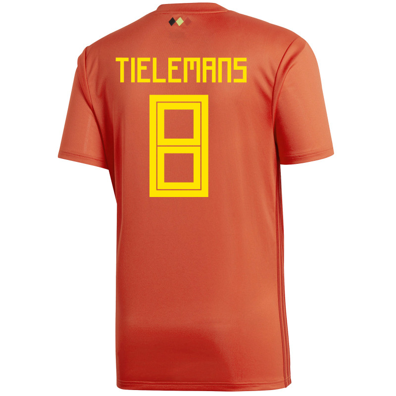 BELGIUM MEN'S HOME JERSEY WORLD CUP RUSSIA 2018 TIELEMANS #8