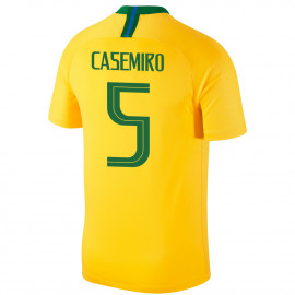 BRAZIL MEN'S HOME JERSEY WORLD CUP RUSSIA 2018 CASEMIRO #5