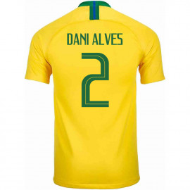 BRAZIL MEN'S HOME JERSEY WORLD CUP RUSSIA 2018 DANI ALVES #2