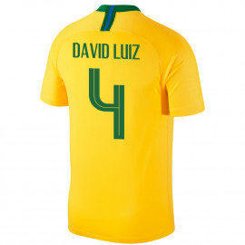 BRAZIL MEN'S HOME JERSEY WORLD CUP RUSSIA 2018 DAVID  LUIZ #4